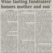 Wine Tasting Fundraiser Honors Mother and Son